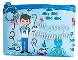 DISOK - Monedero Mi Primera Comunión. Detalles de monederos para Las comuniones. Monederos Infantiles. (Lote 20 Azul)