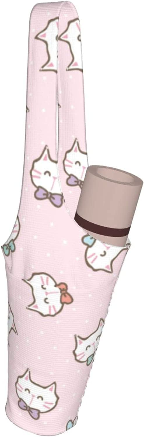 Jeezhub Cute Cat Special sale item on Pink Yoga Pockets Fashio with Bag Department store Mat Large