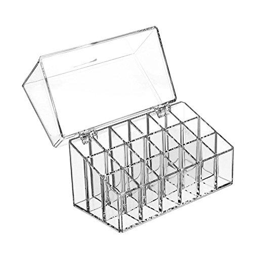 Nikgic Acryl Transparente Kosmetik Organizer Aufbewahrungs Box Mit Decke Lippenstift Aufbewahrungsbox 18 * 10 * 11.7cm 1 Stück