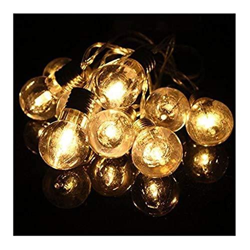 1.3M 10 LED caliente de la lámpara blanca adorno al aire libre luces de cadena Globo plástico secuencia de hadas Luces Claro Bombilla al aire libre luces interiores