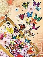 4000個の大人の教育玩具ゲーム、カラフルな蝶のパズル愛好家、モダンでクリエイティブな装飾ギフト