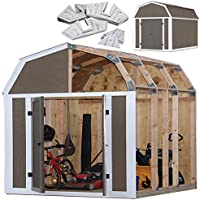 EZ Shed 70188 Barn Style Instant Framing Kit (Brown)