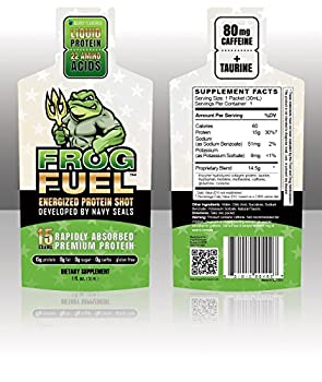 FrogFuel Energized Protein Box - Berry  6-1oz Packets