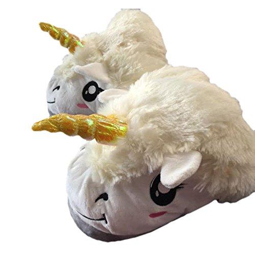 Black Sugar - Pantuflas de unicornio para adulto, unisex, modelo mixto de peluche, talla nica, apta para 35 a 40, cmodo, disfraz de carnaval, cosplay de buena calidad