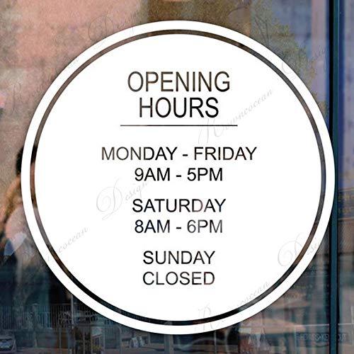 Tony plate Aangepaste openingstijden teken sticker teken winkel zakelijke winkel kantoor restaurant café muur venster deur indoor outdoor - 57x57Cm