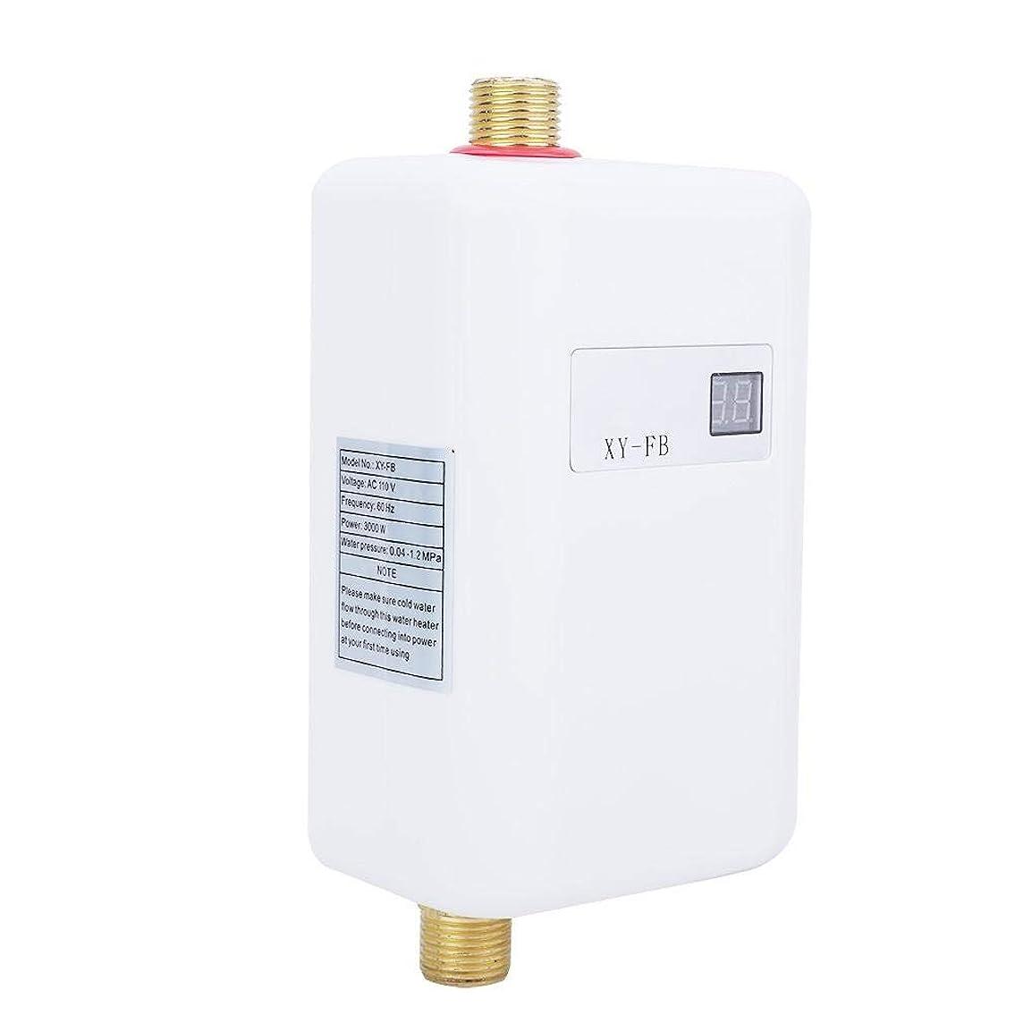 伴うわずかな間隔タンクレス給湯器、電気タンクレスインスタント温水ヒーター浴室キッチンアクセサリー、3000W/3800W(USプラグ110V)
