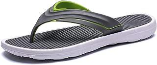 QinMei Zhou Men's Antislip Slippers Thong Rubber Flip Flops Casual Summer Home Shower Sandals (Color : Green, Size : 7 UK)