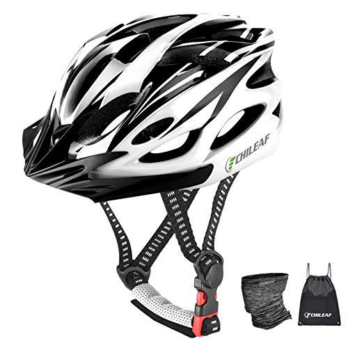 Casco de Bicicleta, Bicicleta Casco Adulto , Visera y Forro Desmontable montaña , Casco de Ciclismo BMX equitación Casco Bici Hombres y Mujeres Adultos