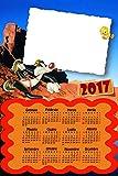 Calendario Personalizado 2017con una foto, Art. 291, Piolín y Silvestro, tamaño 30x 45, completo de encuadernar y Gancino de pared