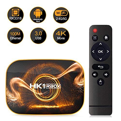 Space element Android TV Box, HK1 RBOX Set-top Box 2GB RAM 16GB ROM Quad Core 64 Bits Support WiFi 100M LAN Smart TV Box 4K 3D HDR Media Player,2GB/16GB European Standard