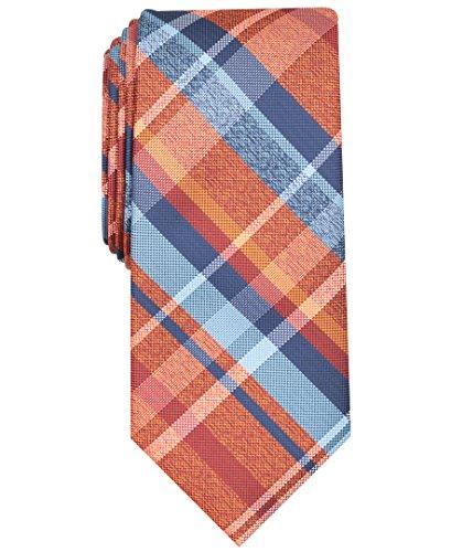 Perry Ellis Herren Abdul Plaid Tie Krawatte, Orange, Einheitsgröße (2er Pack)