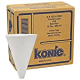 Konie Cups 10.0KRF Paper Cone Funnel Cups, 10 oz, White (Pack of 1000)