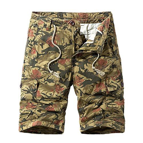 N\P Los hombres de herramientas de moda casual sueltos más el tamaño de los pantalones cortos de herramientas
