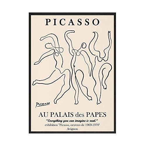 Picasso Matisse abstracto chica flor pared arte carteles nórdicos e impresiones Retro cuadro de pared familia sin marco lienzo pintura A2 30x45cm