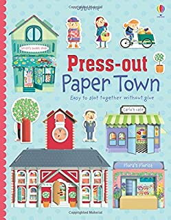 Press Out Paper Town (Press Outs) by Fiona Watt (1-Jun-2015) Hardcover