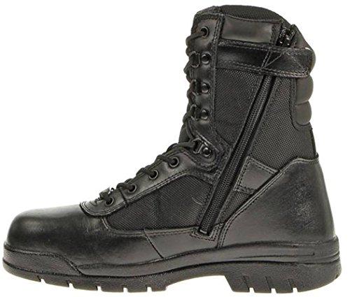 Bates Men's Safety Enforcer 8 Inch L N Steel Toe Uniform Work Oxford, Black, 7.5 M US