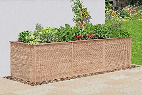 Gartenpirat Hochbeet Madera Lärche Natur XL oder XXL, Außenmaße:305 x 103 x 86 cm