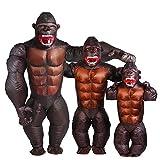 Photo de YOWESHOP Adult Gorilla Costume - Halloween Inflatable Costume Orangutan Gibbon Chimp Monkey Fancy Dress Blow Up Suit (Adult M Height(55-66Inch)) par