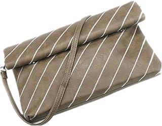 ハンドバッグ レディース ショルダーバッグ ファッション女性のクロスボディショルダーバッグ財布クラッチバゲットフラップバッグレディースメッセンジャーバッグ財布リストバッグ トートバッグ (色 : 褐色, サイズ : 30.0 cm*19.0 cm*3.0 cm)