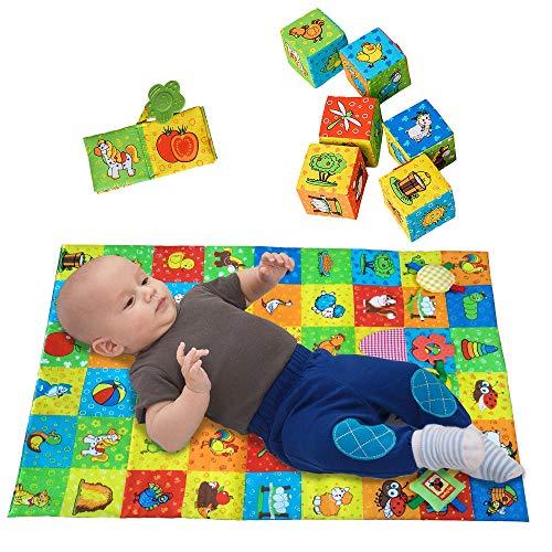 MACIK PlayingMat+6 soft blocks for baby...