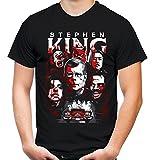 Stephen King Männer und Herren T-Shirt   Horror Grusel Roman     (L, Schwarz)