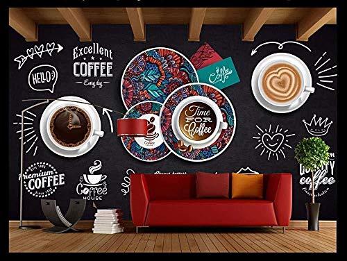 Muurkunst offee muurkunst wandbehang nostalgie koffie klassiek thee drinken desserts gereedschap achtergrond decoratief schilderij 300cmx210cm