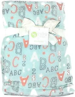 Baby Gear Plush Velboa Ultra Soft Baby Girls Boys Unisex Blanket, 30 x 40 (ABCs / 123s)