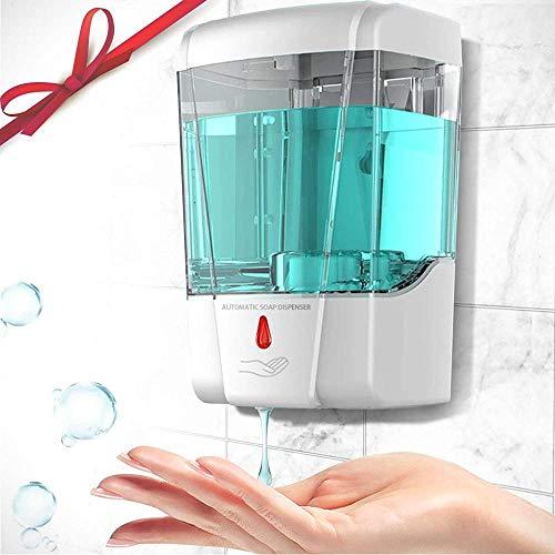 Dispensador automático de gel desinfectante de manos sin contacto, dispensador de jabón 700ml con sensor de movimiento infrarrojo Dispensador de alcohol comercial eléctrico montado en la pared