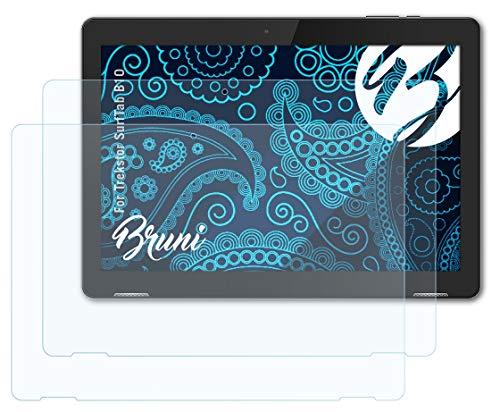 Bruni Schutzfolie kompatibel mit Trekstor SurfTab B10 Folie, glasklare Displayschutzfolie (2X)