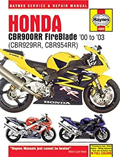 i5motorcycle Haynes Repair Manual 4060 for Honda CBR929RR CBR954RR CBR929 CBR954 CBR 929 954 RR 929RR 954RR 2000-2003
