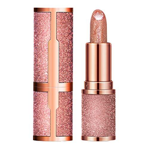 WINBST Glitter Star Lápiz Labial Nutritivo Hidratante Lápiz Labial Brillante Maquillaje Impermeable de Larga duración Cosmético