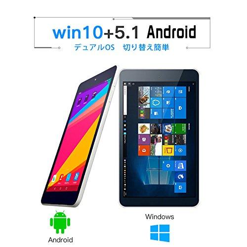『MOMO8W PLOYER 8インチ デュアルブート タブレット 日本語Windows 10+Android 4.4.4 CPU:Intel Quad Core 1.33GHZ/2GB/32GB』の6枚目の画像