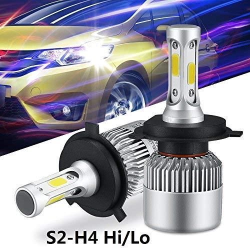 ALUNAR H4 LED Headlight Bulbs 9003 HB2 Car Head light Hi/Lo Dual Beam 72W 8000LM Auto Headlamp COB All-in-one Conversion Kit Plug and Play Infitary Replace LED Headlight Bulbs