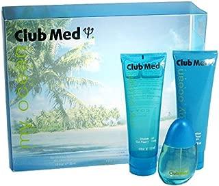 Club Med My Ocean By Coty For Women. Gift Set ( Eau De Toilette Spray 1.0 Oz + Body Lotion 4.0 Oz + Shower Gel 4.0 Oz).