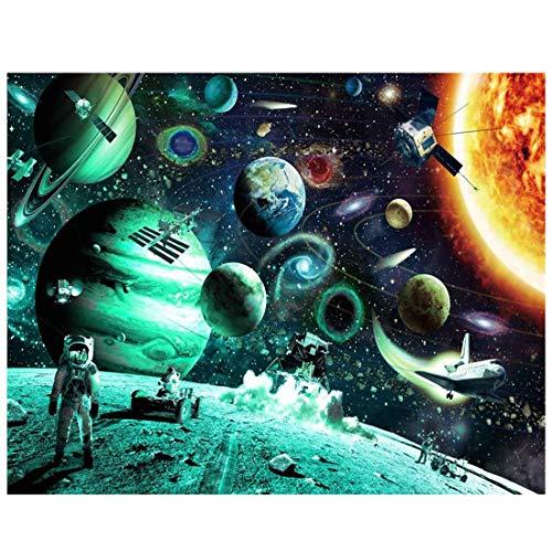YYLI Luminoso 1000 Piezas Puzzle, Rompecabezas Planetas Espacio, Puzzle Educational Game Juguete para Aliviar Estrés Juego Intelectual Cerebro Desafío 70 * 50Cm