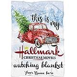 Personalized Name Hallmark Movies Blanket for Baby Boy Girl Kids and Adults. Hallmark Christmas Movies Watching Blanket. Merry Christmas Throw Gift for Baby Girl Boy Dad Mom Grandma (Fleece 60'x50')