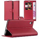 Cadorabo Coque pour Sony Xperia L1 en Rouge Cerise - Housse Protection avec Fermoire Magnétique,...