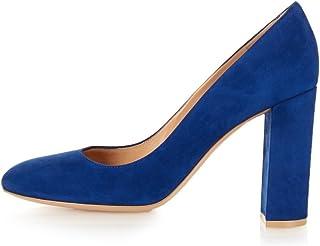 elashe- Scarpe da Donna - Scarpe col Tacco - 10CM Classiche Tacco a Blocco - delle Donne Tacchi Spessi