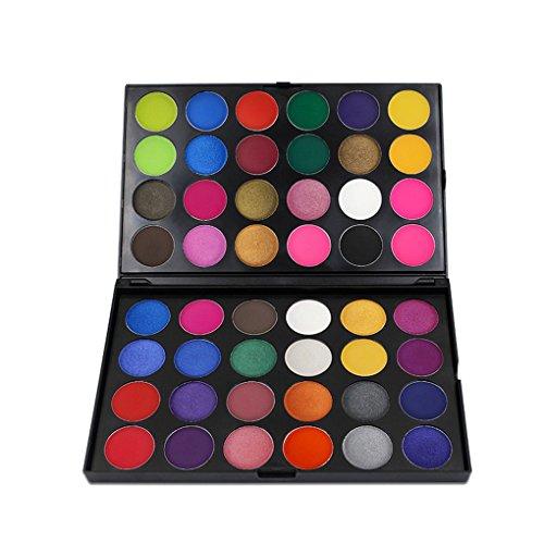 Rekkles 48 Couleurs Nails Shimmer Paillettes Palette Kit Yeux Tint Multicolore Lasting Maquillage des Yeux Ombre Set