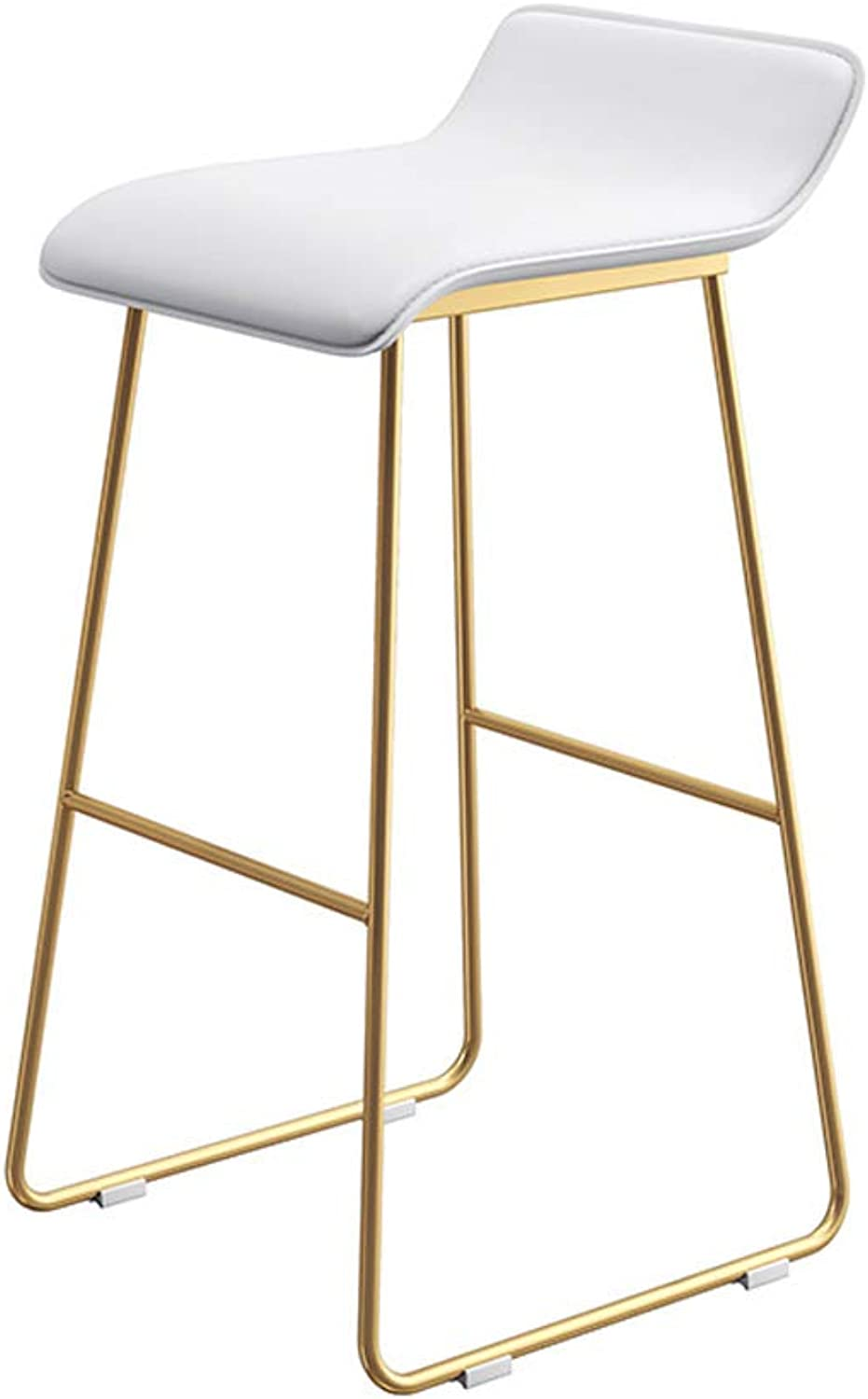 Byx- Bar Stool, Coffee Lounge Stool, Wrought Iron Padded bar Chair, 5 colors, Size  65 cm   70 cm   75 cm @ (color   D, Size   XL)