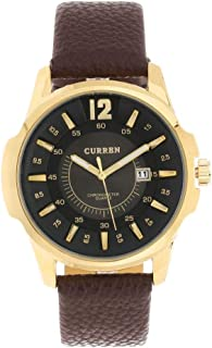 Curren for Men - Analog Leather Band Watch - 8123