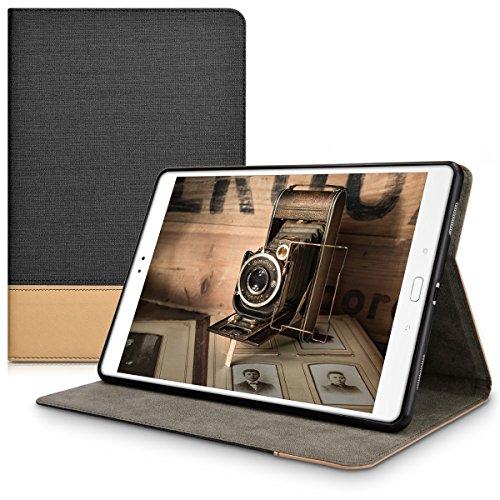kwmobile Hülle kompatibel mit Asus ZenPad 3S 10 (Z500M) - Slim Tablet Cover Hülle Schutzhülle mit Ständer Schwarz Braun