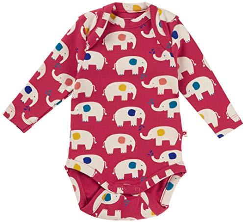 Piccalilly Gender - Body de bebé neutro, algodón orgánico suave, unisex, diseño de elefante rojo...