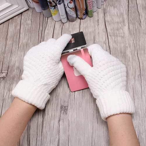 Guanti lavorati a maglia donna uomo bambino guanti invernali caldi a spessore pieno dita femminili elastico uncinetto schermo solido-a23