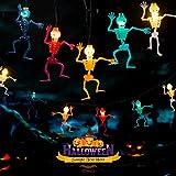 Avoalre Luces Decoración de Halloween 20 LED 3.5M, Cadena de Calavera Fantasma LED con Modo 8 Función de Memoria Impermeable Cráneo Cadena Lámpara Calavera para Halloween, Fiestas Temáticas, Carnaval