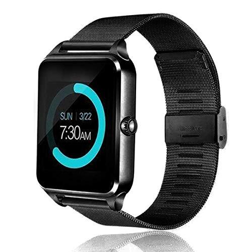 Esenlong Reloj inteligente para teléfonos Android y compatible, para natación, resistente al agua, reloj de fitness, monitor de ritmo cardíaco, relojes inteligentes para hombres y mujeres, color negro