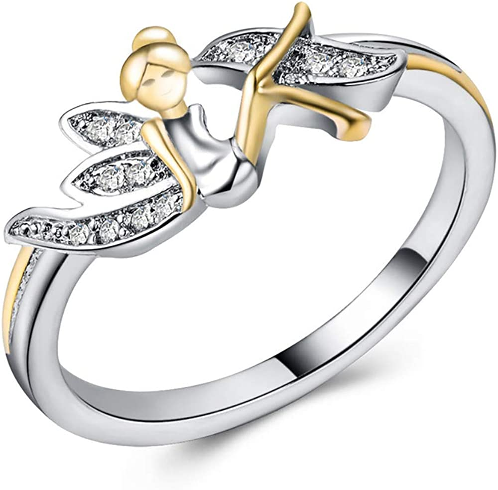 Fairy Winged 2021 autumn and winter new Angel Ring by Ginger Lyne Kids F Very popular Tone Girls for Two