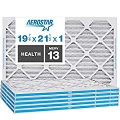 "CHECK YOUR FIT - Nominal size: 19 7/8 x 21 1/2x1; Actual size: 19 7/8""x21 1/2""x3/4""; This MERV 13 filter is comparable with MPR 1500-1900 & FPR 10. SUPERIOR FILTRATION EFFICIENCY - Aerostar filters are made with electrostatically charged synthetic ma..."