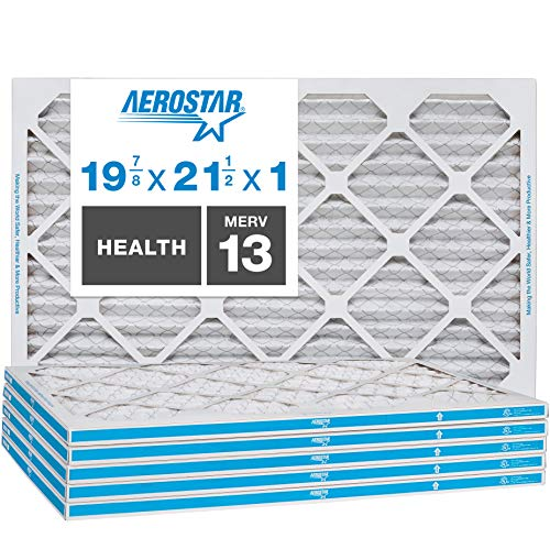 Aerostar 19 7/8 x 21 1/2x1 MERV 13 Pleated Air Filter, Made in the USA, 6-Pack
