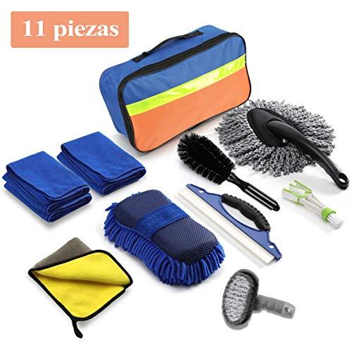 Kit Limpieza Coche 11 Piezas, Set Limpieza Coche, Kit de Her